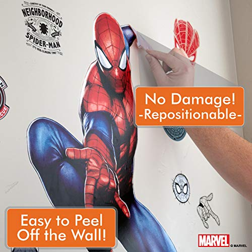 Marvel Spider-Man & Iron Man Bundle Augmented Reality Stickers for Kids Rooms - Kids Wall Decals for Bedroom are Easy to Put Up On Wall & Peel Off - Best Bedroom Décor by Marvel (Image #4)