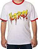 World Wrestling Entertainment WWE Officially Licensed Men's Roddy Piper Hot Rod Shirt White & Red 4XL