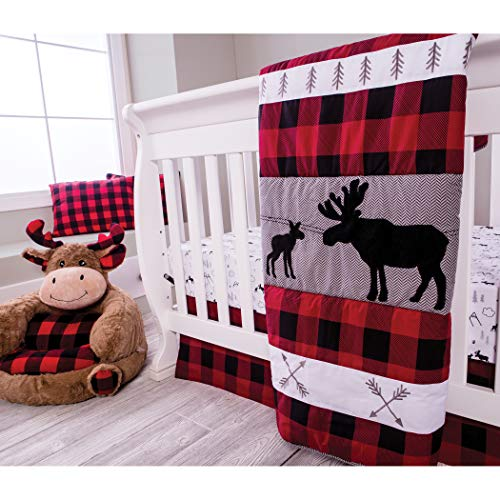Trend Lab Lumberjack Moose 3Piece Crib Bedding Set