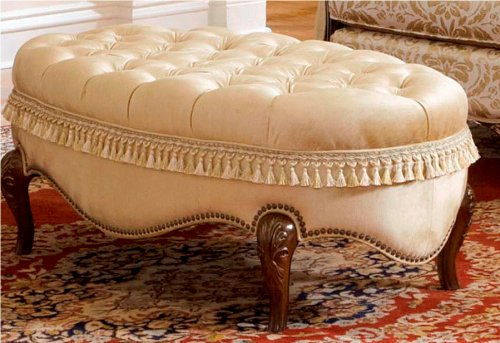 Court Cocktail - AICO Imperial Court Wood Trim Cocktail Ottoman