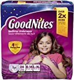 Health & Personal Care : GoodNites Bedtime Underwear Girls L/XL - 24 CT