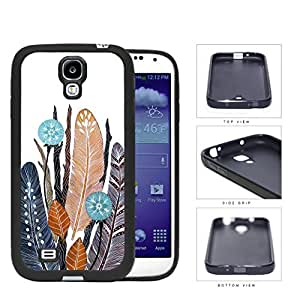 Native Feathers And Leaves Rubber Silicone TPU Cell Phone Case Samsung Galaxy S4 SIV I9500