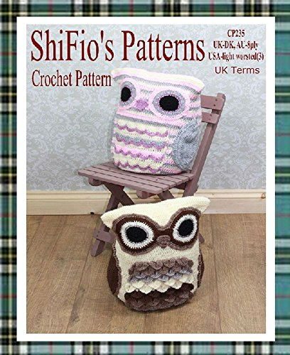 Crochet Pattern - CP235 -  Owl Cushion cover, pyjama case -  UK (Pyjama Case)