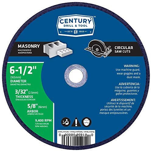 (Century Drill and Tool 8606 Masonry Abrasive Saw Blade, 6-1/2-Inch)