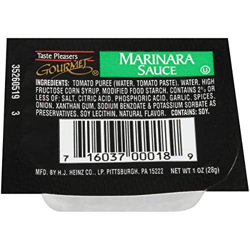 Taste Pleasers Gourmet Marinara Sauce (1 oz Cups, Pack of 100)