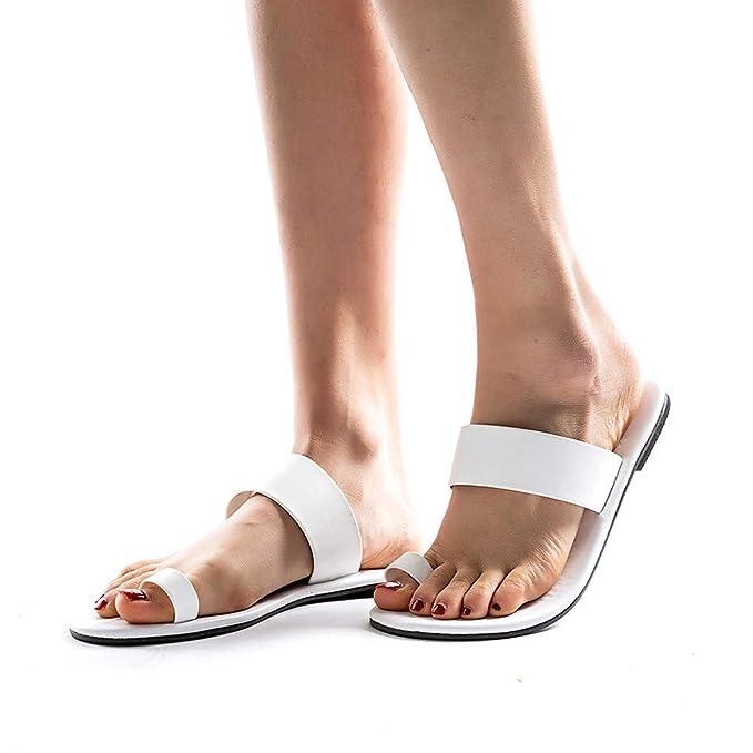 9e61ff140e5 ABsolute Sandalias Sandalias Romanas Mujer Playa para Mujer Zapatos Planos  étnicos de Las Mujeres Zapatos de Playa Sandalias de Verano Sandalias  Bohemia ...