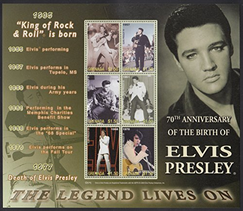 Elvis Presley 70th Anniversary Collectible Postage Stamps 3502