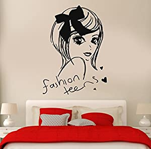 Wall Stickers Vinyl Decal Fashion Teen Girl Cool Decor For Bedroom Living  Room (z1894i) Part 90