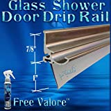 36'' Brush Nickel Framed Glass Shower Door Drip Rail Kit- Comes Pre-taped and with the seal already installed. Metal replacement piece on the bottom of a framed shower door. FREE 4oz Valore!!!