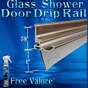 36  Brush Nickel Framed Glass Shower Door Drip Rail Kit- Comes Pre-taped and with the seal already installed. Metal replacement piece on the bottom of a ...  sc 1 st  Amazon.com & 36