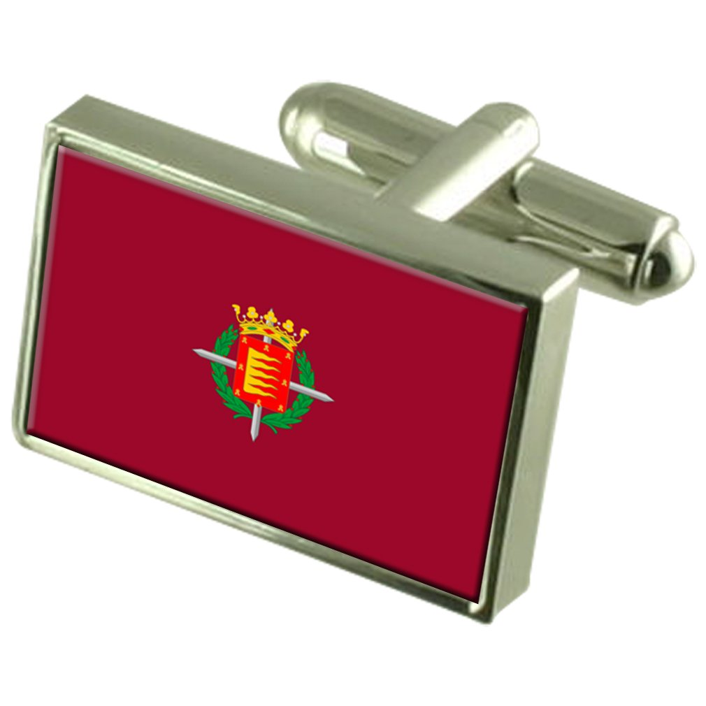 Valladolid City Spain Flag Cufflinks