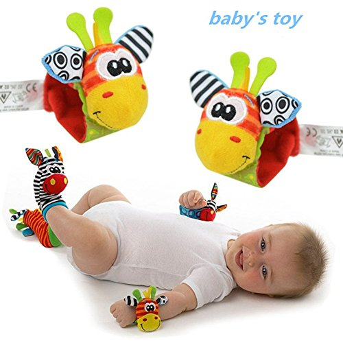 Maphissus Child Kids Wrist Rattles Cute Animal Infant Baby Kids Hand Wrist Bell Rattles Soft Toy for Fun Reindeer (Pack of (How To Make Superhero Costumes)