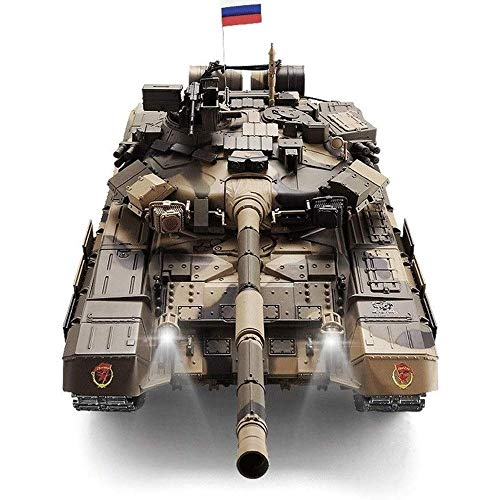 Xuess 1:16 Large Simulation Model T-90 Tank Sound and Light Effects Professional Tank Crafts Creative Infrared Fighting…