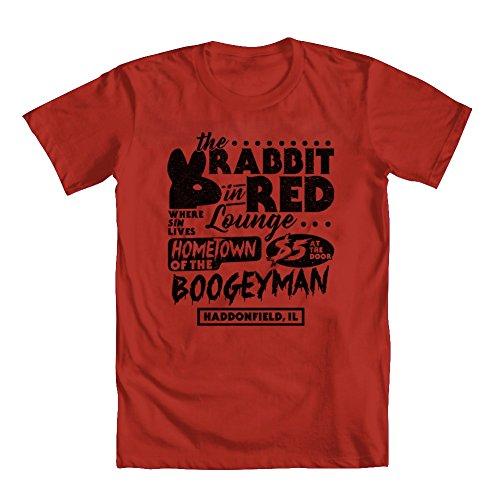 GEEK TEEZ Rabbit in Red Lounge Men's T-Shirt Red XX-Large