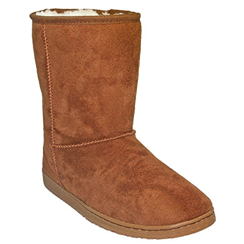 DAWGS Women's 9 Inch Faux Shearling Microfiber Vegan, Chestnut, 9 M US from DAWGS