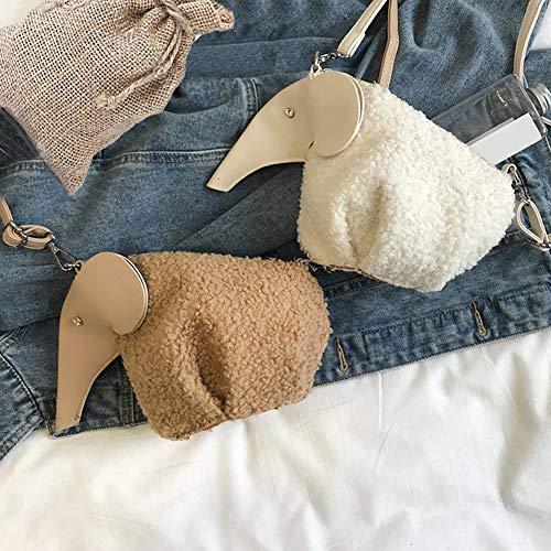 5 cerniera borsa felpa a di forma coniglio di elefante design tracolla a forma donna da Borsa Zq7S4S