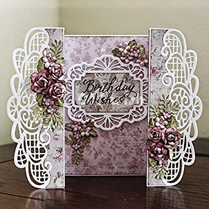 1 Piece Crown Lace Metal Cutting Dies Invitation Scrapbooking Craft Silver
