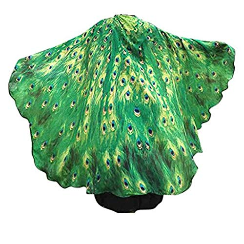 - VESNIBA Soft Fabric Butterfly Wings Shawl Fairy Ladies Nymph Pixie Costume Accessory (197125CM, Green)