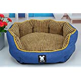 NEO Home Corn Kernel Design Canvas Round Dogs Bed or Cats Kennel ,Bottom Waterproof and 100% Washable.