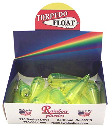 Torpedo Float - Rainbow TPS-5B Torpedo Bubble, 1/8-Ounce, Fl/Yellow