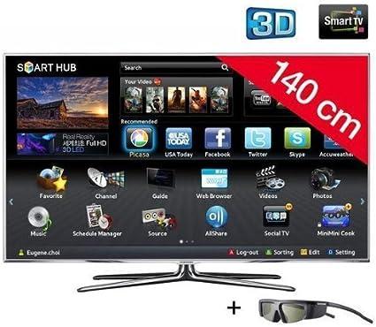 Samsung televisor LED 3d UE55D7000 HD TV 1080p, 55 pulgadas (140 cm) 16/9, 800 Hz, DVB-T HD, 3d Ready, Ethernet, HDMI X4, USB 2.0 X3, con WiFi + 2 años de garantía: Amazon.es: Electrónica