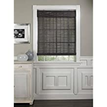 Radiance 0108356 Gray Bamboo Shade, Roll Up, with Valance, Blind, 55-Inch Wide by 63-Inch Long