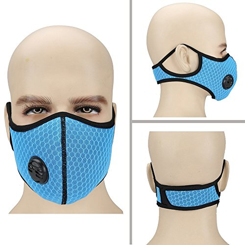 (Ligart Air Filter Face Mask, Upgrade Dust Mask with Earloop Adjustable N99 Activated Carbon Mask Filters Filtration Exhaust Gas Anti Pollen Allergy PM2.5 Dustproof Mask for Running Outdoor Activities)