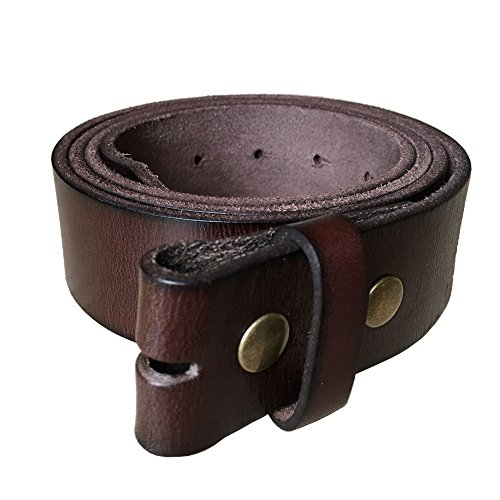 [GFtime Vintage Snap On Leather Belt without Buckle 1.5
