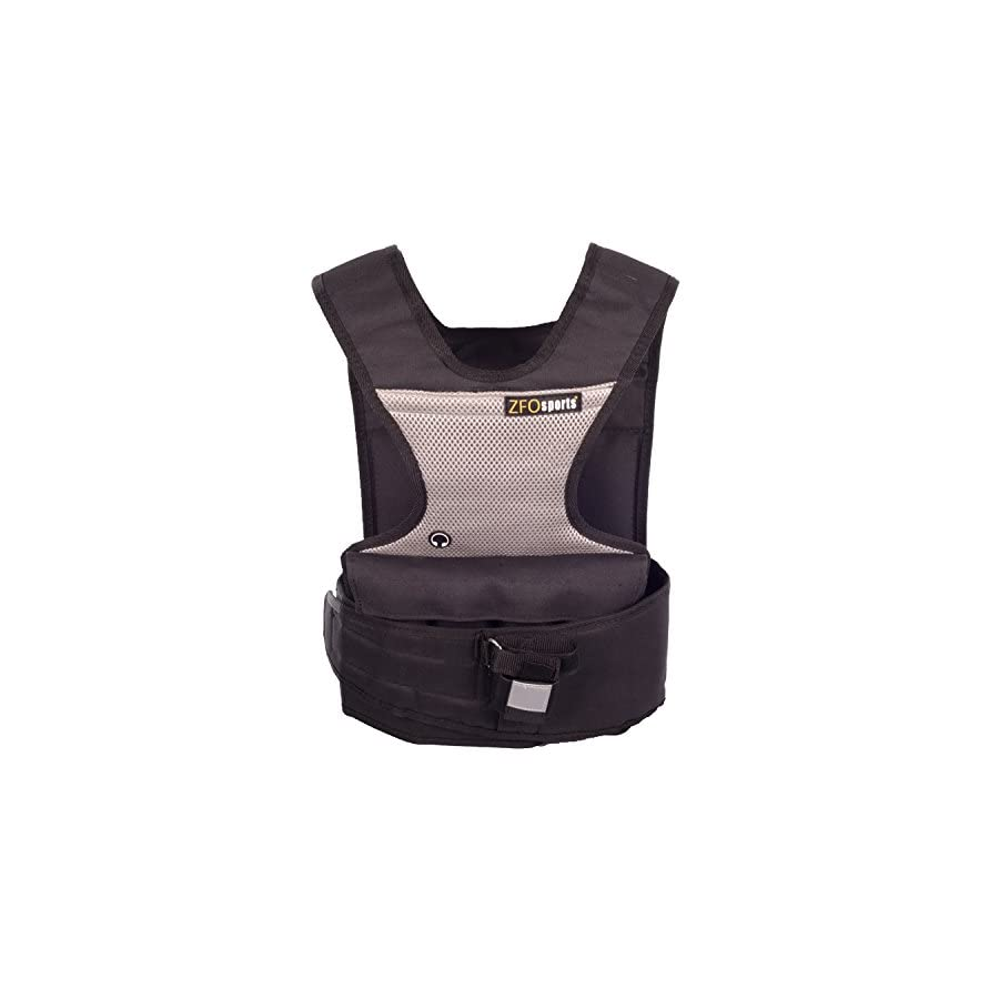 ZFOsports Womens Adjustable ( 2lbs 30lbs ) Weighted Vest With Phone Pocket & Water bottle holder