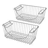 Pro-Mart DAZZ Medium Stacking Baskets, Chrome, Set of 2