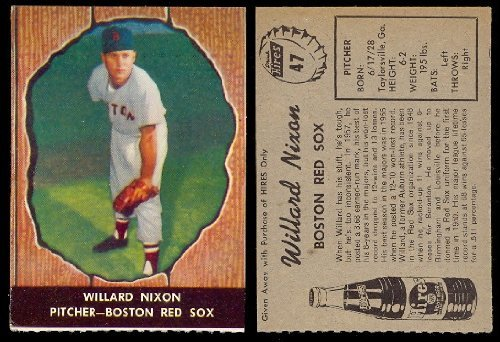1958 Hires Root Beer Regular (Baseball) Card# 47 Willard Nixon of the Boston Red Sox Ex Condition