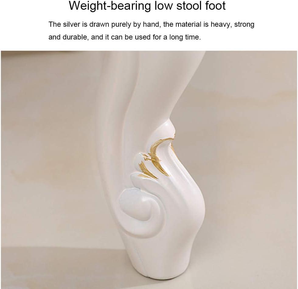 ASDFGHJKL Schminktisch Hocker, runder Fuß Schuh ändern Hocker mit Anti-Rutsch-Holzbeine, Modern Fußbank für Wohnzimmer-Sofa/Schlafzimmer/Home Office,B B
