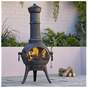 Blooma Etinas Steel Chiminea