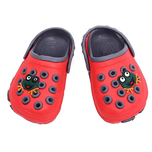 Domybest Sommer Sandalen Hausschuhe Frosch Cartoon Loch Schuhe tragen rutschfeste Baby Sandalen Rot