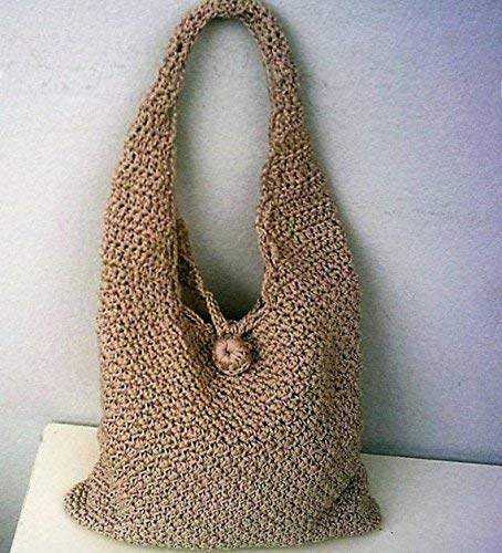 Crochet Women's Shoulder Bag Polyester Yarn Beige Color Crochet Handbag Bag & Purses Women's Handbags ()