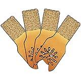 4 Pc 3/4'' Flooring Tile and Grout Rasp Oscillating Blade Fits Fein Multimaster Makita Genesis Bosch Dremel Craftsman Ridgid Ryobi Milwaukee Dewalt Rockwell Chicago Stanley Skil King Canada Multi Tools