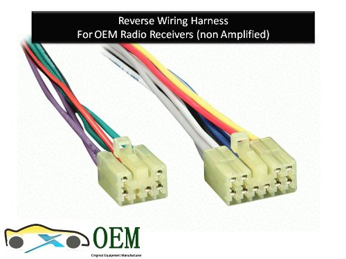 51JnxWZQ42L amazon com reverse wiring harness for 1987 2007 toyota lexus Scosche Wiring Harness Color Code at fashall.co