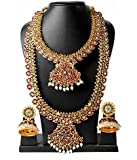 Fashion205 Multicolor Brass Gold-Plated Necklace Earring Set For Women
