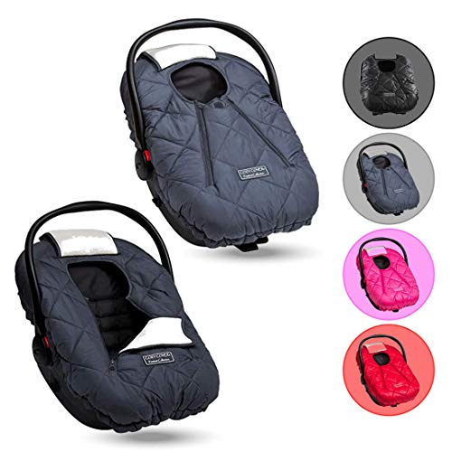Cozy Cover Premium (Charcoal) - Infant Car Seat Cover With Polar Fleece. The Industry Leading Infant Carrier Cover Trusted By Over 6 Million Moms Worldwide For Keeping Your Baby Cozy & Warm