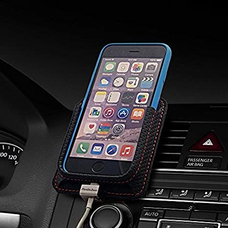 b6042eedbc16a1 Berrolia No. 1 - Car mount - air vent cradle - with charging - for iPhone 6  and 6s, Rally Black: Amazon.co.uk: Electronics