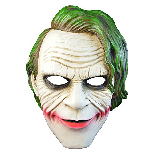 [Batman The Dark Knight Joker Mask for Halloween Masquerade Party Collection, etc] (The Joker Masquerade Costume)