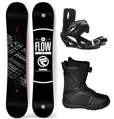 Flow 2018 Gap Men's Complete Snowboard Package Bindings BOA Boots - Board Size 154 (Boot Size 10)