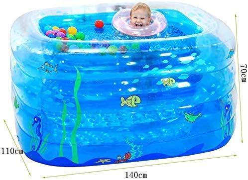 TRYSHA Piscina del beb/é Piscina Infantil Inflable Familiar for los ni/ños Tama/ño al Aire Libre del jard/ín Rectangular Inflable Familia Piscina for ni/ños for Todos los ni/ños-140x110x70cm