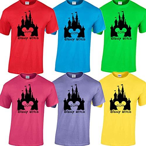 Disney World Family Vacation Matching T Shirt 2019 (Candy Apple Red, Women's Medium) -