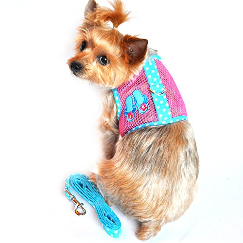 esh Dog Harness Under the Sea Collection - Flip Flop Pink & Blue (S (13