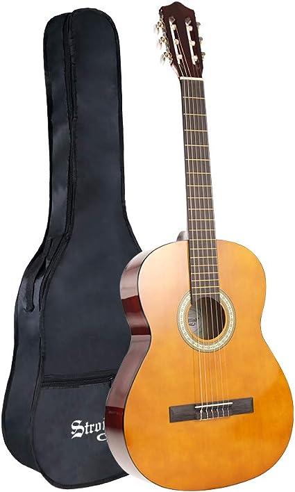 Guitarra clásica de viento fuerte de 39 pulgadas, 6 cuerdas de ...