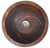 Egypt gift shops Flame Burnt HANDMADE Copper Toilet Bathroom Lavatory Sink Bowl