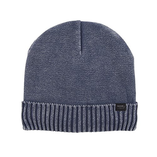 (Levi's Men's Knit Cuff Beanie with Woven Label, Navy Fold, One Size)