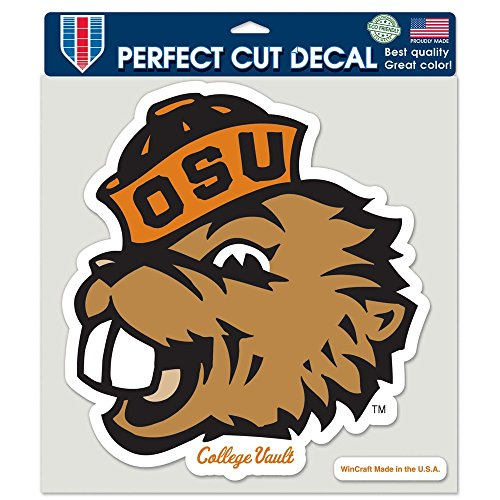 (WinCraft Oregon State Beavers Official NCAA 8 inch x 8 inch Die Cut Car Decal by)