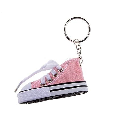 Desconocido Juguetes Juegos Colgantes Llaveros Forma Zapato Lona Moda - Rosa